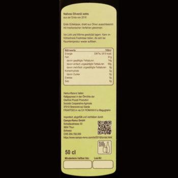 Olivenöl 50cl leggero Deklaration